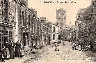 Bignan - Bignan main Street latter 19th Century.