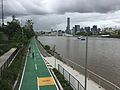Bikeway & footpath along Brisbane River in Milton, Qld 08.JPG