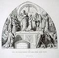Bilder-Cyclus - Aus dem Leben Karls des Grossen, VIII. Karl der Grosse übergibt die Krone seinem Sohne Ludwig.jpg