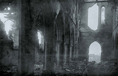 The church of Binarville after World War 1