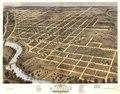 Bird's eye view of the city of Danville, Vermillion County, Illinois 1869. LOC 73693353.tif