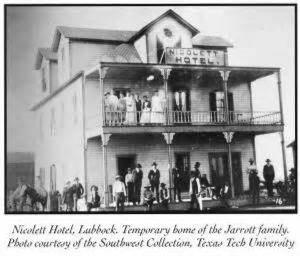 Nicolett Hotel (Lubbock, Texas) - The Nicolett Hotel circa 1891 (Southwest Collection at Texas Tech University in Lubbock, Texas)