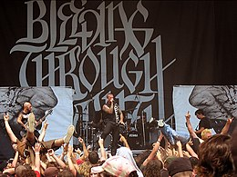 Bleeding Through live at Alpine Valley on Ozzfest 2006.jpg