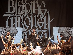 Bleeding Through - Bleeding Through performing at Alpine Valley Music Theatre as part of the Ozzfest in 2006
