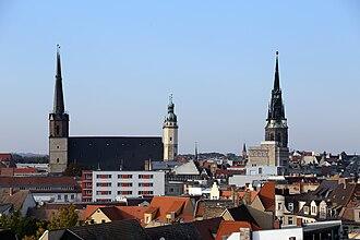 Halle (Saale) - Image: Blick Marktkirche Halle