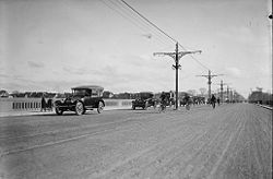 Inaugural traffic on the Prince Edward Viaduct, October 18, 1918