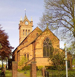 All Saints' Church, a landmark at one end of the High Street.