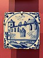 Blue ceramic tile at the National Museum of Scotland, pic1.JPG
