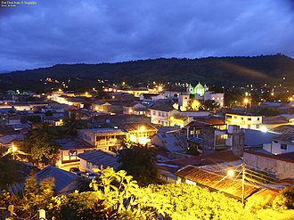 Boaco - View of Boaco at night