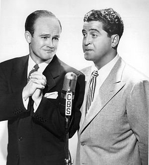 Bob Sweeney (actor and director) - Sweeney with Hal March (right), 1946.