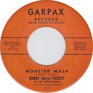 """Monster Mash - Image: Bobby """"Boris"""" Picket Monster Mash 7 inch US vinyl"""