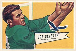 Bobby Walston - Walston on a 1952 Bowman football card