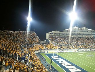 Bobcat Stadium (Montana State University) - 2012 home opener; the first night game in Bobcat Stadium history