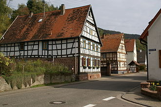 Palatinate Forest - The Wasgau village of Bobenthal: farmhouses in the Rhine-Frankish style
