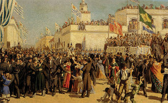 Constitution of Uruguay of 1830 - Boceto para la Jura de la Constitución de 1830, by Juan Manuel Blanes.