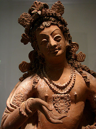 Lokottaravāda - Bodhisattva statue from a Buddhist monastery in Afghanistan, a region where the Lokottaravāda were known to be prominent