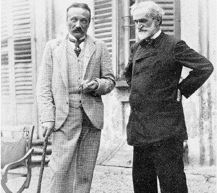 Arrigo Boito and Verdi at Sant'Agata in 1893 Boito e Verdi.jpg