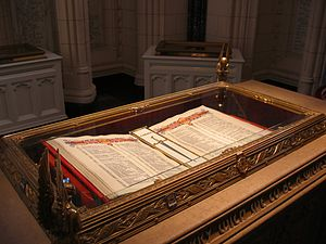 Books of Remembrance (Canada) - A view of one of the Books of Remembrance