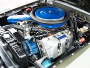 Boss 429-motor i en Ford Mustang.