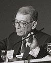 Boutros-Boutros Ghali in 1995 at the World Economic Forum in Davos