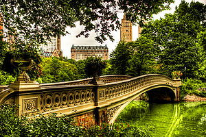 Adrian Janes - Bow Bridge in Central Park NYC 2 - August 2009 HDR