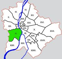 Elhelyezkedése Budapesten belül (zöld)