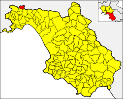 Bracigliano within the Province of Salerno
