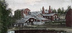 Bredsjö brug, true, ved 1900-tallet begyndelse.