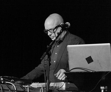 Brian Eno at a live remix in 2012 Brian Eno live remix at Punkt 2012 (cropped).jpg