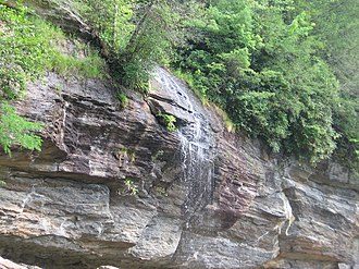 Bridal Veil Falls (Macon County) - Bridal Veil Falls during typical flow