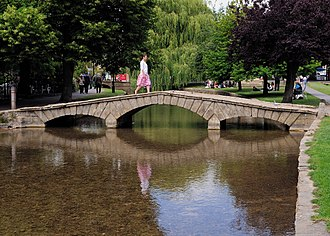 Bourton-on-the-Water - One of the bridges in the village