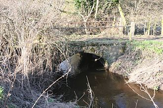 Packhorse bridge - Image: Bridge over Acton Brook, Crowton