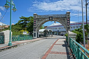 Bridgetown - Chamberlain Bridge spanning the Careenage, Bridgetown