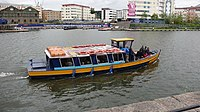 Bristol Harbour Ferry leaving The Cottage landing stage - geograph.org.uk - 1599169.jpg