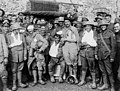 British, French and Italian wounded soldiers in a group, as cheery as ever (4687985161).jpg