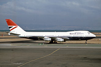 British Airways Flight 9 - G-BDXH, the aircraft involved in the accident, photographed at San Francisco Airport in 1980.