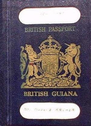 Guyanese passport - Image: British guiana passport