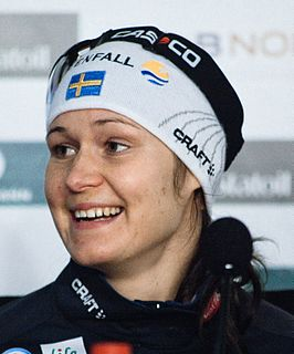 Britta Johansson Norgren Swedish female cross-country skier