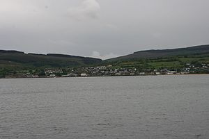 Brodick - The town seen from Brodick beach
