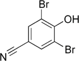 Skeletal formula of bromoxynil