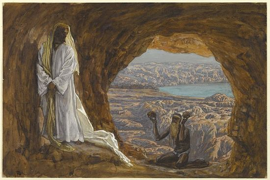 Brooklyn Museum - Jesus Tempted in the Wilderness (Jésus tenté dans le désert) - James Tissot - overall.jpg