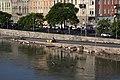 Buda quay, construction work under flood.JPG