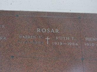 Buddy Rosar - The gravesite of Buddy Rosar in Cheektowaga, New York
