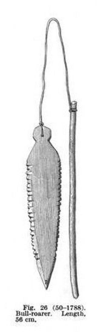 Bullroarer - Image: Bull Roarer Gros Ventre 1908