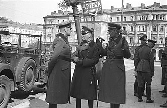 Johannes Blaskowitz - Blaskowitz (center), with Maximilian von Weichs (right) in Warsaw, 1939