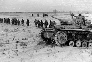 Operation Winter Storm - German Panzer III in the Southern Soviet Union in December 1942