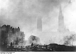 Timeline of Rouen - Rouen Cathedral, June 1944