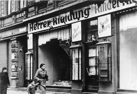 Хрустальная ночь в Германии 1938 фото