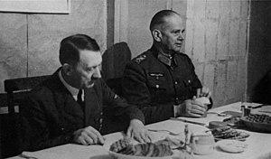 Walther von Reichenau - Hitler and Reichenau in September 1941