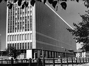 Ministry for Foreign Affairs (East Germany) - The Ministry for Foreign Affairs of the German Democratic Republic, 1972. The building was demolished in 1996.